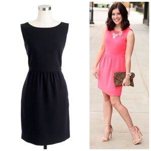 J. CREW Camille Sheath Dress Sleeveless Black 4